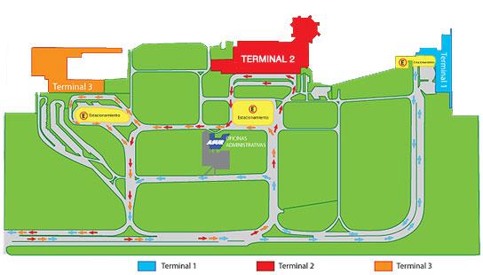 Схема аэропорта Канкун