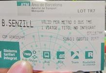 билет на метро в барслеоне