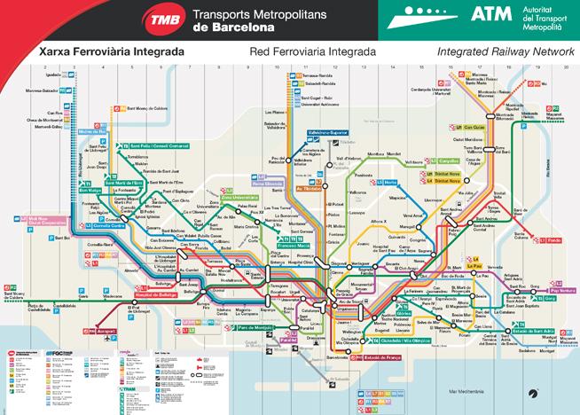 карта метро в барселоне