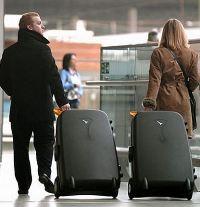 турист с багажом