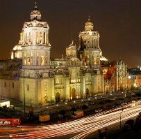 ночной вид на Мехико